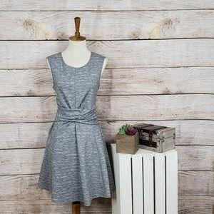 3/$25 Emerald Sundae Heather Gray Twist Dress M